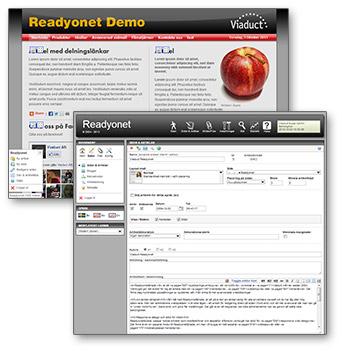 Readyonet - ett publiceringsverktyg (CMS) från Viaduct.